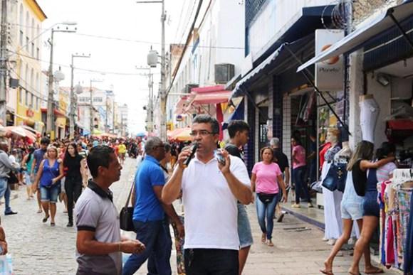 Candidato Marcial Lima defende a revitalização do centro comercial de São Luís
