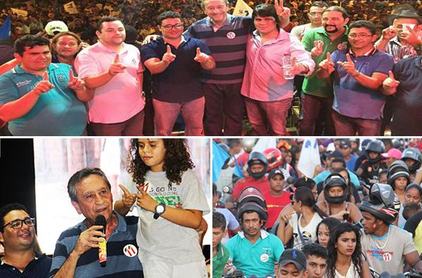 Ao lado de lideranças políticas, Dr. Júnior realiza grande comício em Peritoró