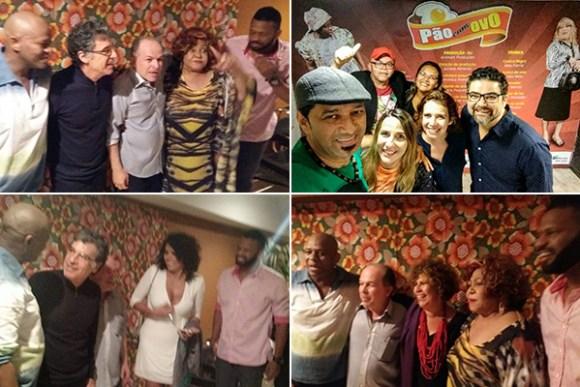 Vários artistas maranhenses prestigiaram a comédia Pão com Ovo, no Teatro Clara Nunes, no Rio de Janeiro