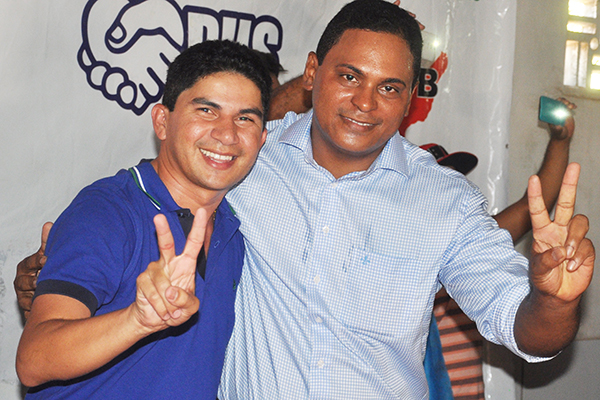 Prefeito Beto Pixuta com o candidato Zequinha Amaral
