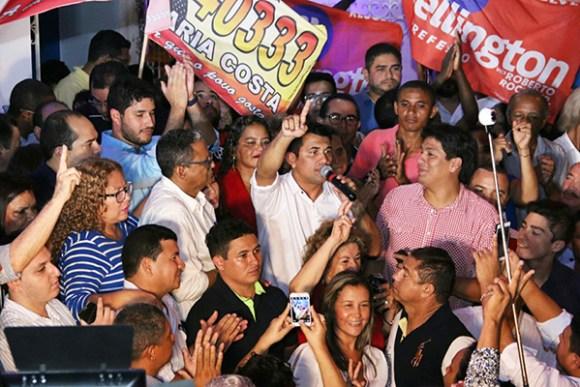 Wellington recebe apoio de milhares durante inauguração do comitê de campanha