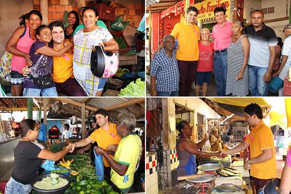Prefeito Eleito de Codó Francisco Nagib agradeveu os votos durante visita ao Mercado Central