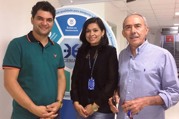 Prefeito Eleito Francisco Hagib (PDT) visita o diretor da Cemar, José Jorge Leite Soares