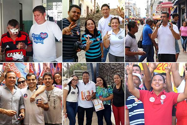 Vereadores eleitos: Marcelo Poeta, Concita Pinto, Marcial Lima, Aldir Júnior, Professor Sá Marques e Raimundo Penha