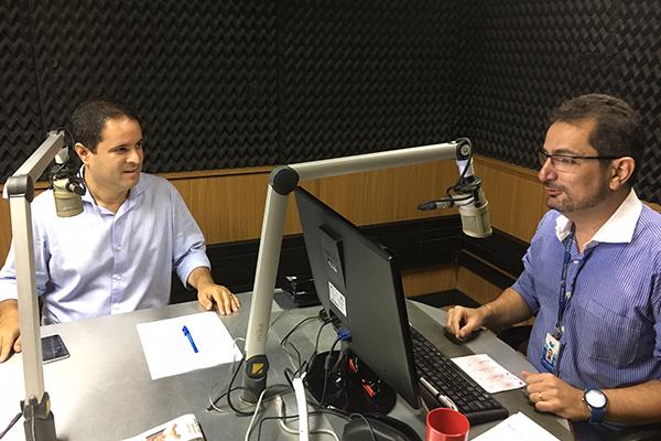 Prefeito edivaldo Holanda Júnior é entrevistado por Jorge Aragão na Mirante AM