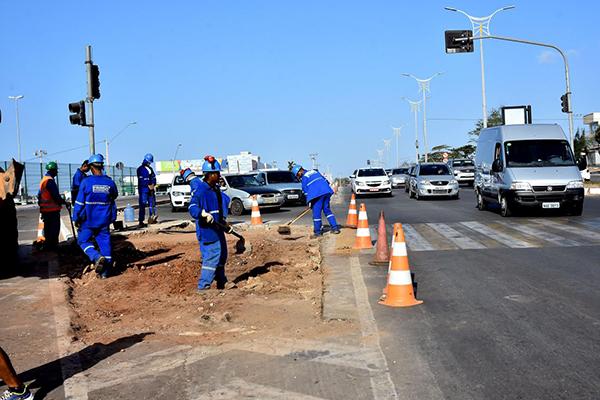 Prefeitura realiza intervenção geométrica na Avenida Daniel de La Touche