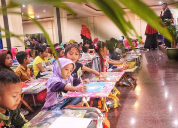 Lomba Mewarnai disertai Seminar Kesehatan Anak bersama K-Link Pontianak