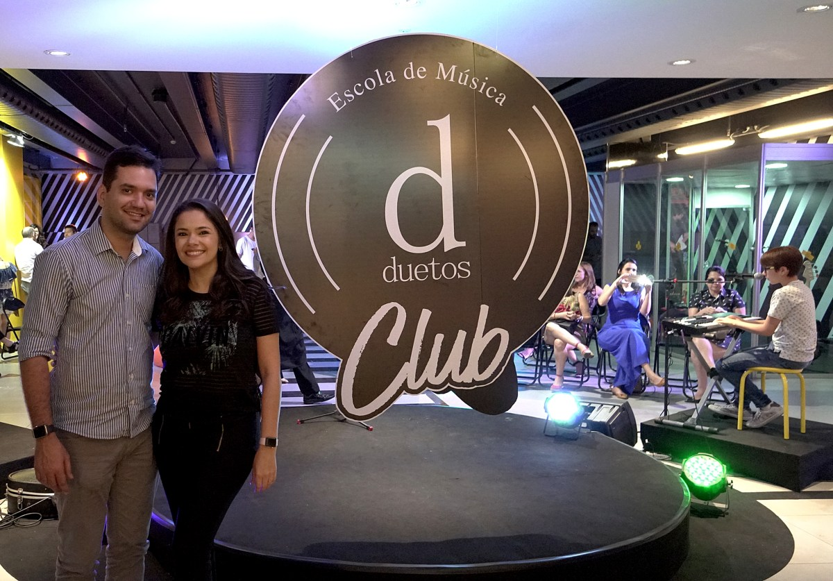Juliana e George Alexandre inauguram DuetosClub no RioMar Fortaleza