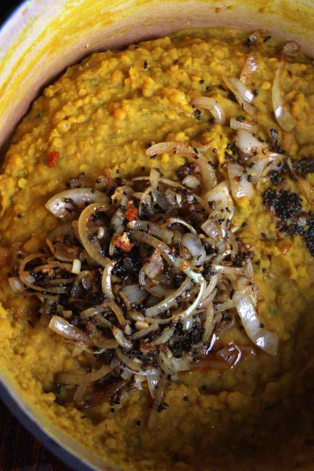 Red lentil Dhal pimped out 2