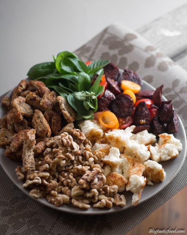 Epic Crouton, Walnut, Halloumi and Crsipy Chorizo Salad marked (3 of 1)