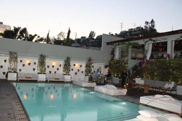 Sky Bar and pool in the Mondrian Hotel