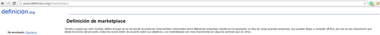 Definición marketplace- Blogtimista
