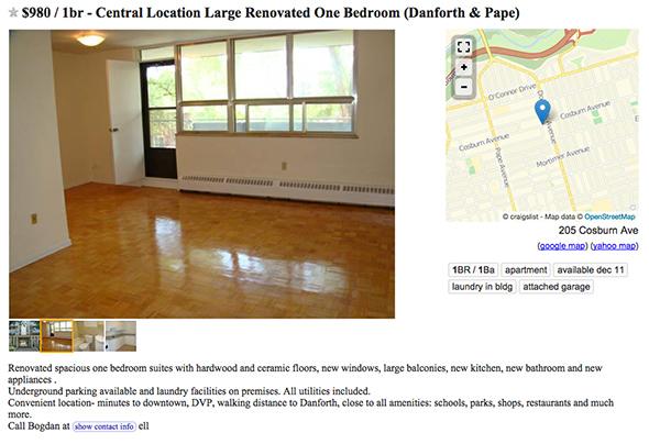 2 bedroom apartments toronto craigslist - bedroom style ideas
