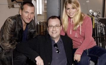 Christoper Eccleston, Russell T Davies and Billie Piper