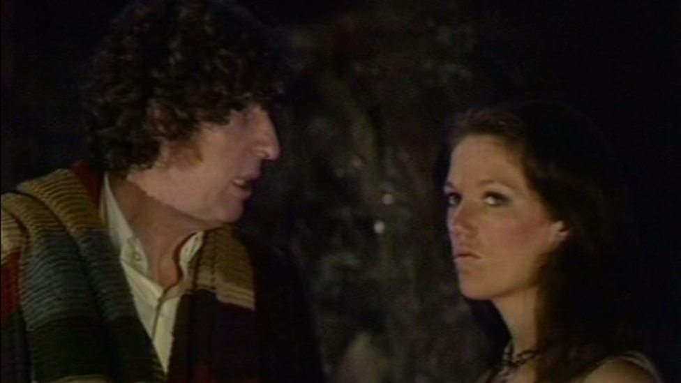 The Doctor (Tom Baker) & Leela (Louise Jameson) - Doctor Who Underworld (c) BBC