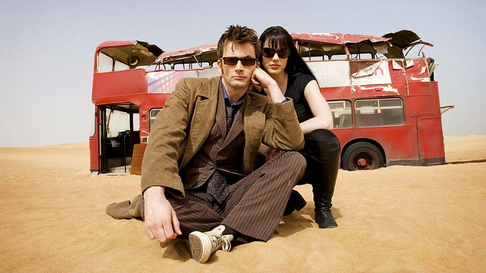 The Doctor (David Tennant) & Lady Christina (Michelle Ryan) - Doctor Who - Planet of the Dead - (c) BBC