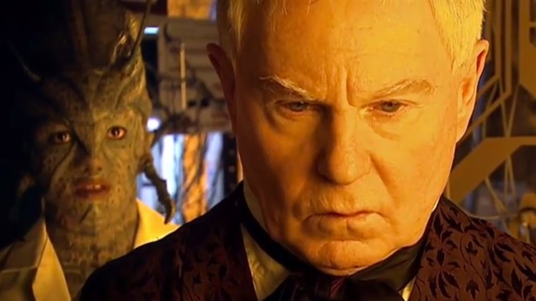 Derek Jacobi as The Master and Chipo Chung as Chantho - Doctor Who - Utopia (c) BBC