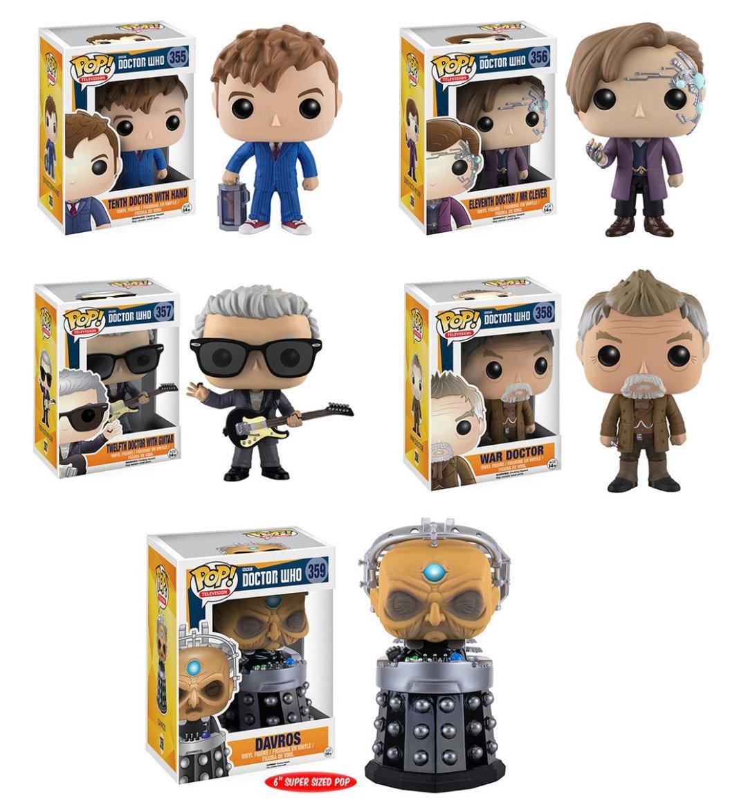 Funko Doctor Who POP! vinyl figures.
