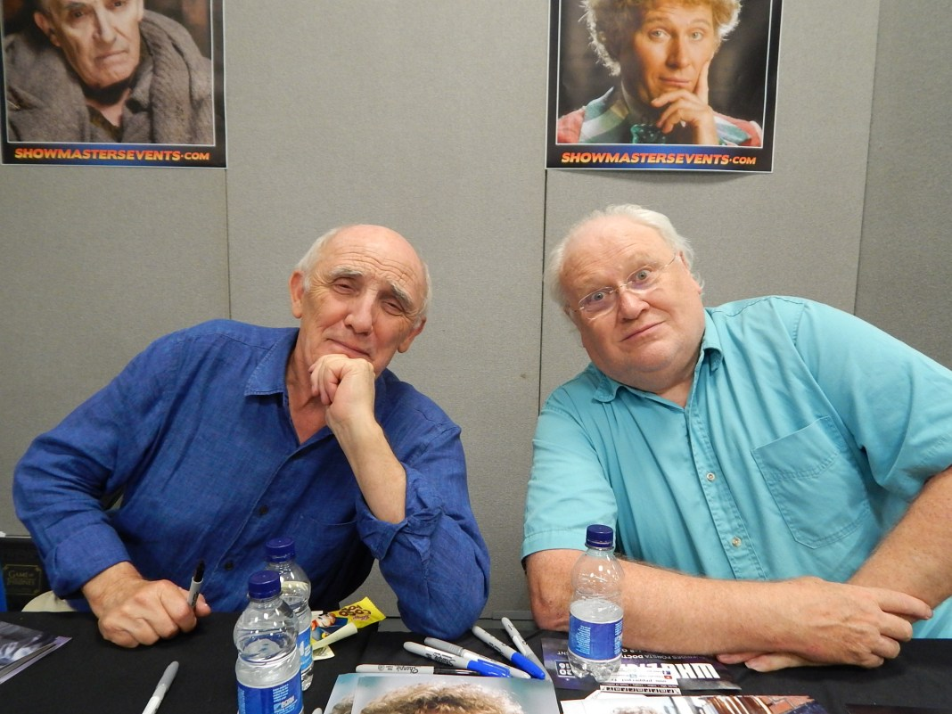 Donald Sumpter and Colin Baker - London Film and Comic Con July 2016 Photo by Daniel Rice