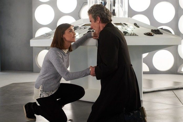 Clara (Jenna Coleman) and the Doctor (Peter Capaldi) - Doctor Who - Hell Bent (c) BBC