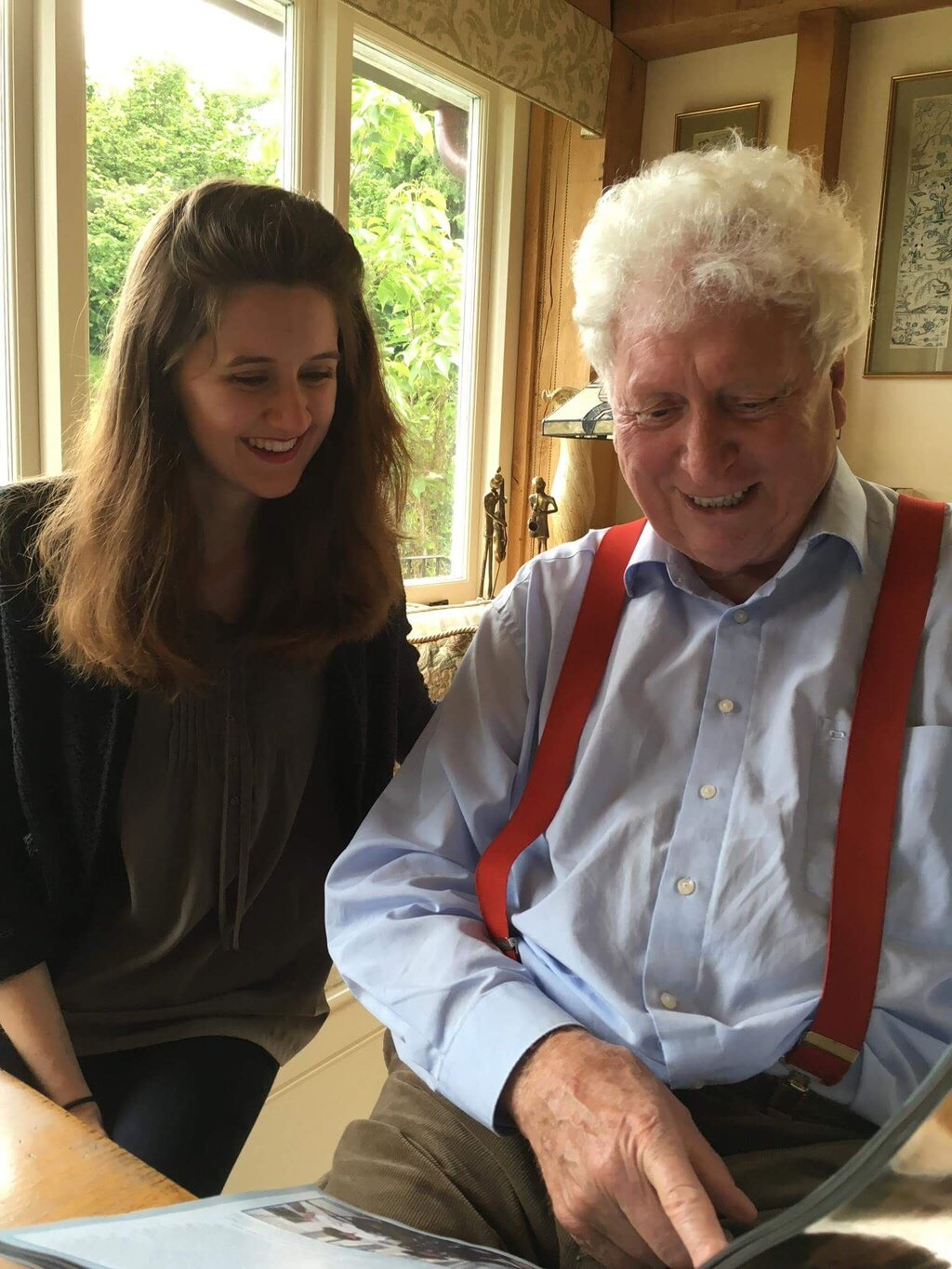 Doctor Who Magazine - Emily Cook and Tom Baker - Photo Credit Tom Spilsbury