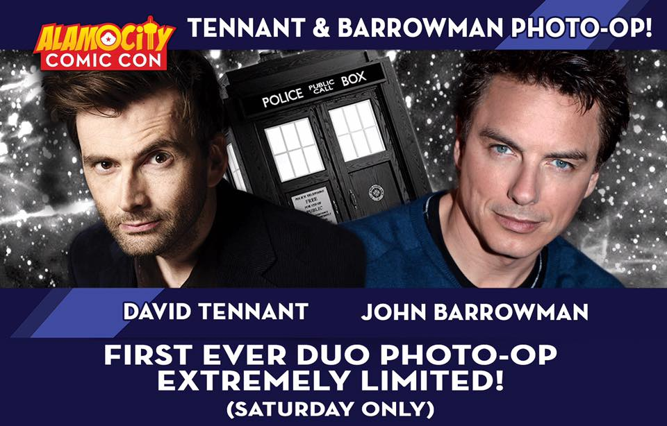 David Tennant and John Barrowman Photo Ops - Alamo City Comic Con