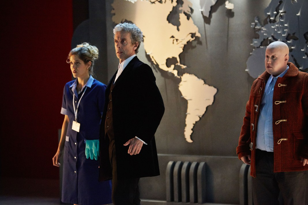 Doctor Who Christmas Special 2016 - The Return of Doctor Mysterio - Picture Shows: Lucy (CHARITY WAKEFIELD), Doctor Who (PETER CAPALDI), Nardole (MATT LUCAS) - (C) BBC - Photographer: Simon Ridgway