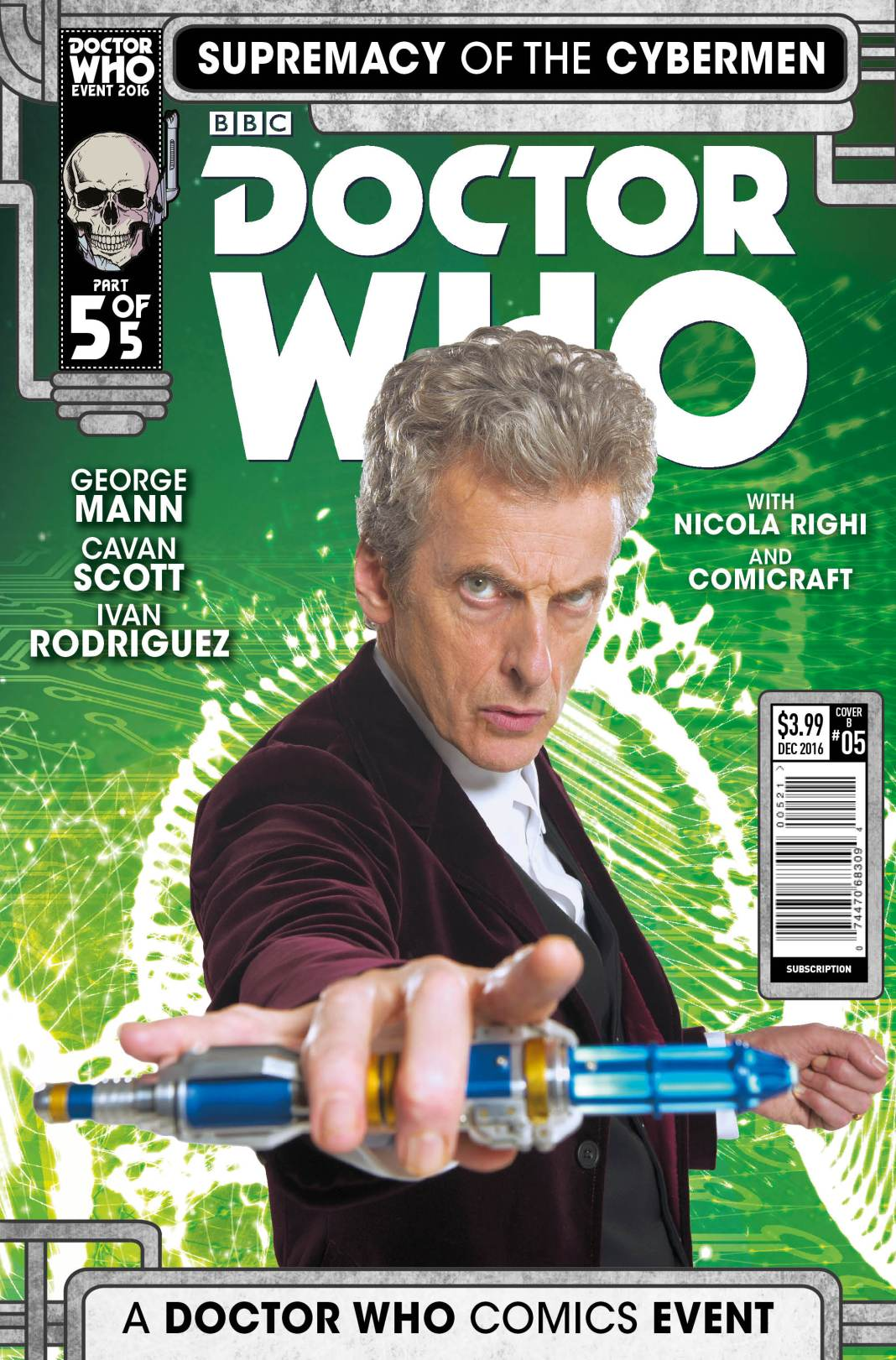 TITAN COMICS - DOCTOR WHO: SUPREMACY OF THE CYBERMEN #5- Cover B Photo Variant