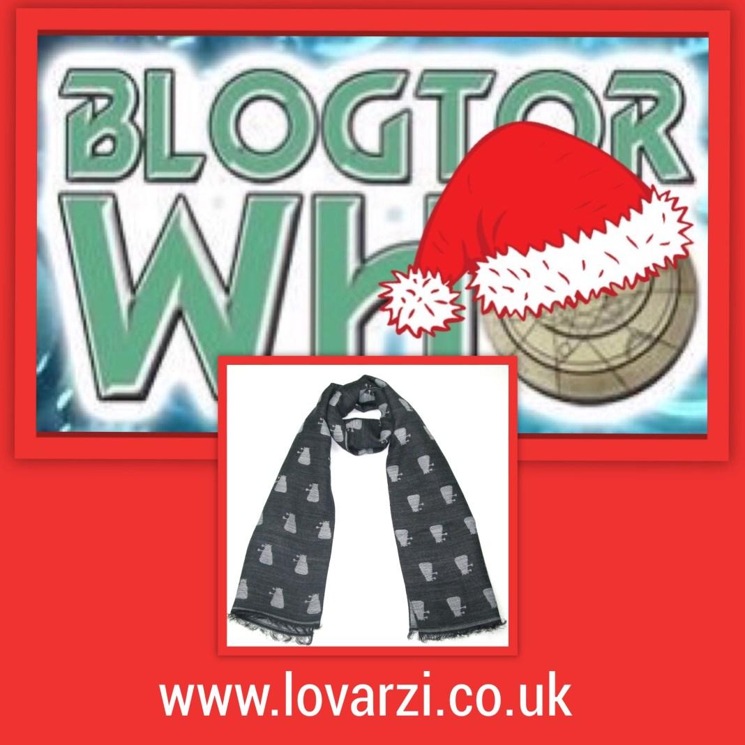 12 Days of Christmas Giveaway - Grey Dalek Scarf (c) Lovarzi