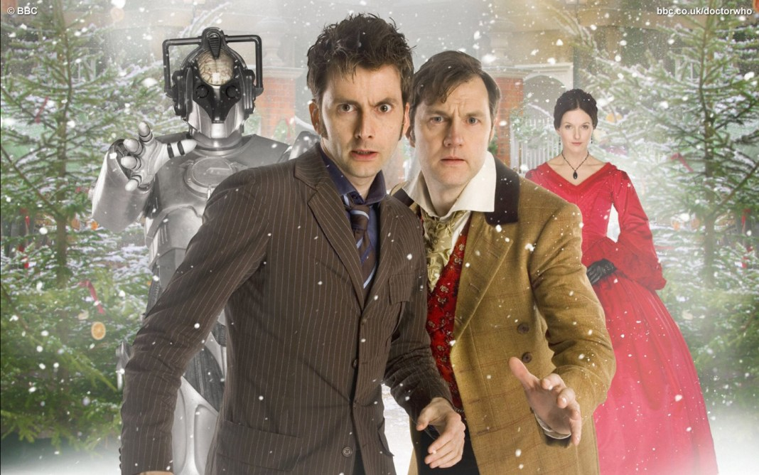 David Tennant as the Doctor, David Morrissey as the Next Doctor and Mercy Hartigan as the Dervla Kirwan - Doctor Who - The Next Doctor - (c) BBC
