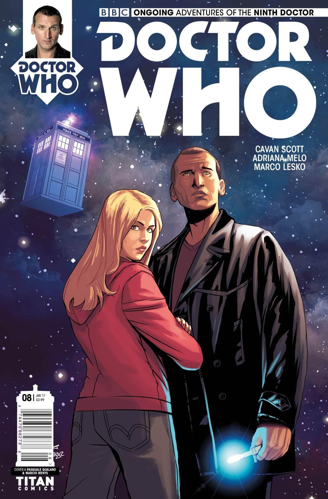 TITAN COMICS - NINTH DOCTOR #8 COVER B BY PASQUALE QUALANO