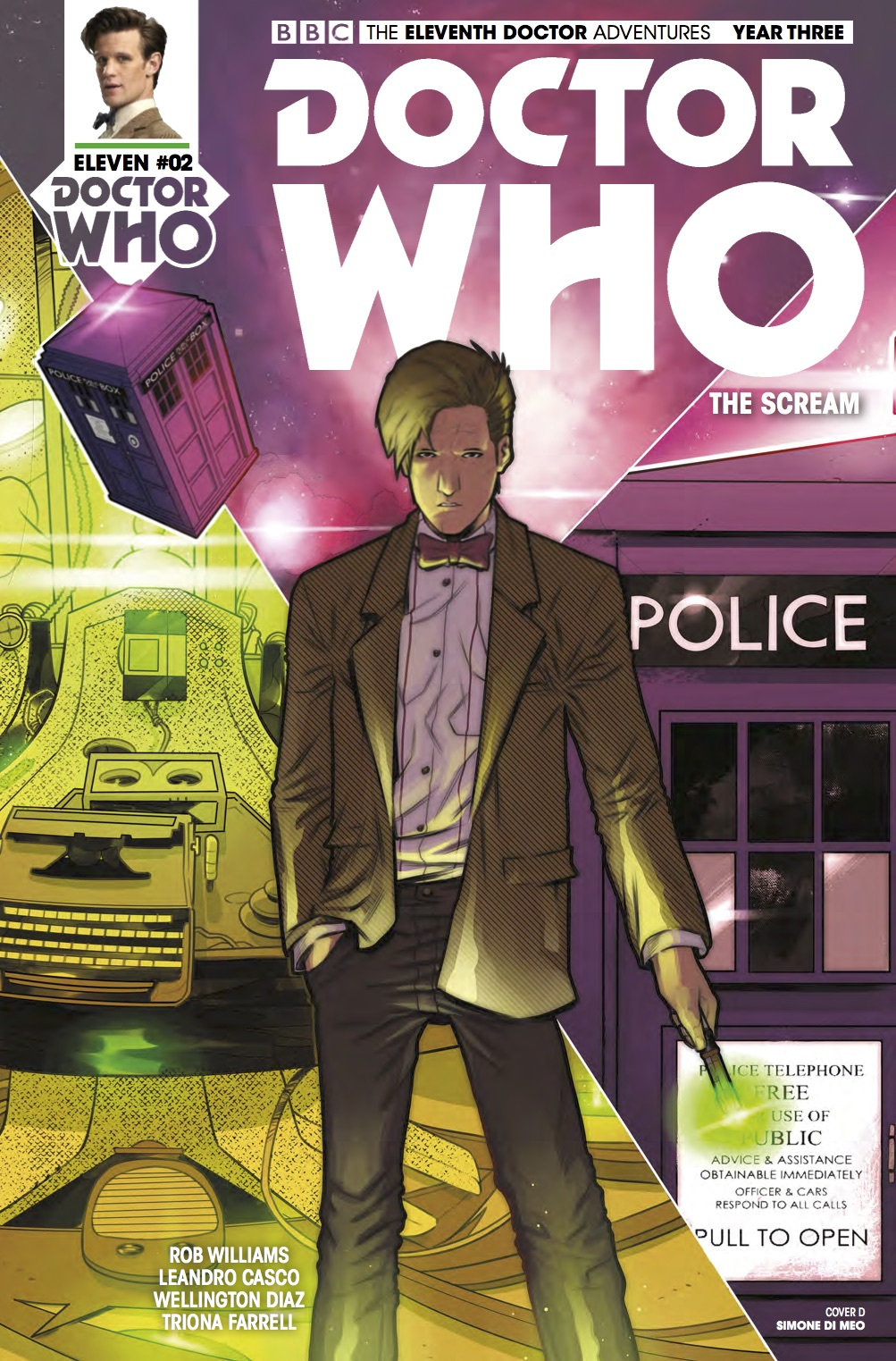 TITAN COMICS - DOCTOR WHO: ELEVENTH DOCTOR #3.2 - COVER D: Simone di Meo