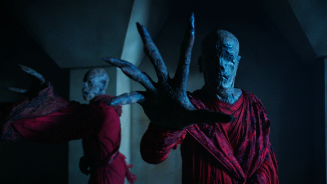 Doctor Who S10 - Screen grab from episode six Monks - (C) BBC - Photographer: screen grab