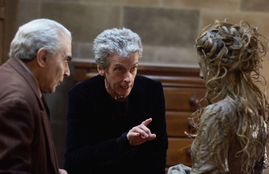Doctor Who - Knock Knock - The Landlord (DAVID SUCHET), The Doctor (PETER CAPALDI), episode 4 monster - (C) BBC/BBC Worldwide - Photographer: Simon Ridgway