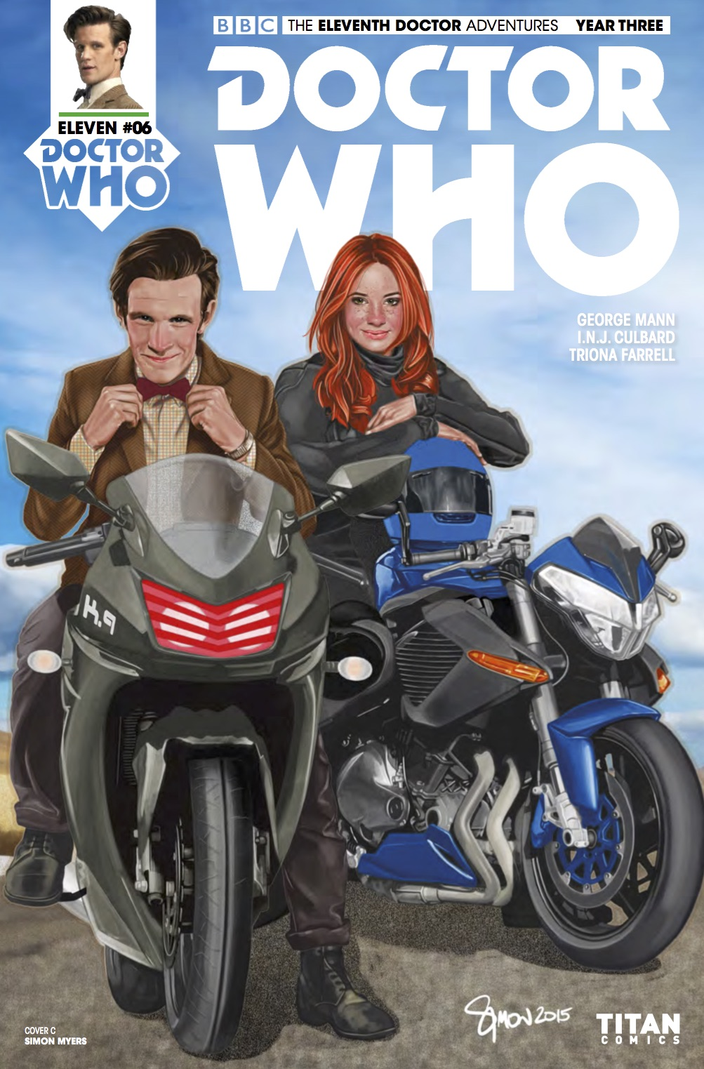 TITAN COMICS - DOCTOR WHO: ELEVENTH DOCTOR YEAR 3 #6 Cover C: Simon Myers