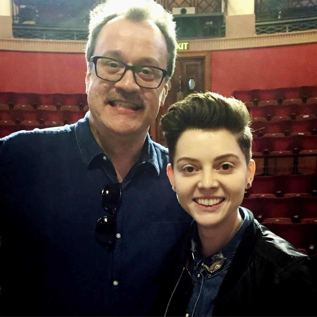 Russell T Davies and Christel Dee © Christel Dee on Twitter