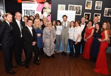 Christain Brassington, Peter Davison, Arabella Weir, Phin Glynn, Georgia Tennant, Ainsley Harriot, Judy Ledger, David Tennant and Baby Lifeline Volunteers - 31st March 2018 - Birmingham Premiere of You Me and Him - (c) Jay Sansi / Baby Lifeline