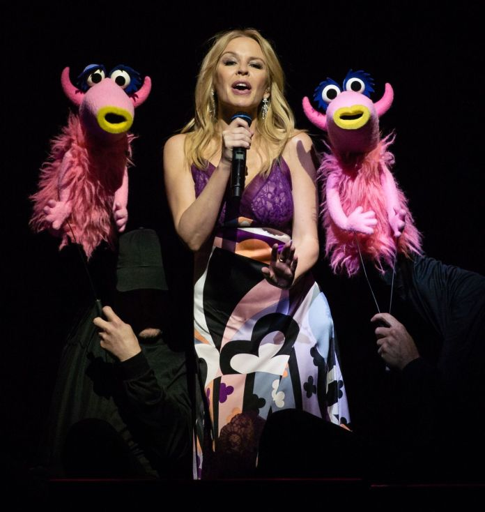 Kylie and the Muppets - The Muppets take The O2 at The O2 Arena in London, UK - 13 Jul 2018 - Photo by Richard Isaac/REX/Shutterstock