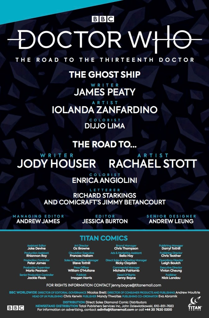 Doctor Who - The Road to The Thirteenth Doctor - Credits - Titan Comics