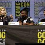 Jodie Whittaker, Tosin Cole and Mandip Gill 'Doctor Who' TV show panel, Comic-Con International, San Diego, USA - 19 Jul 2018 Photo by Karl Walter/Variety/REX/Shutterstock