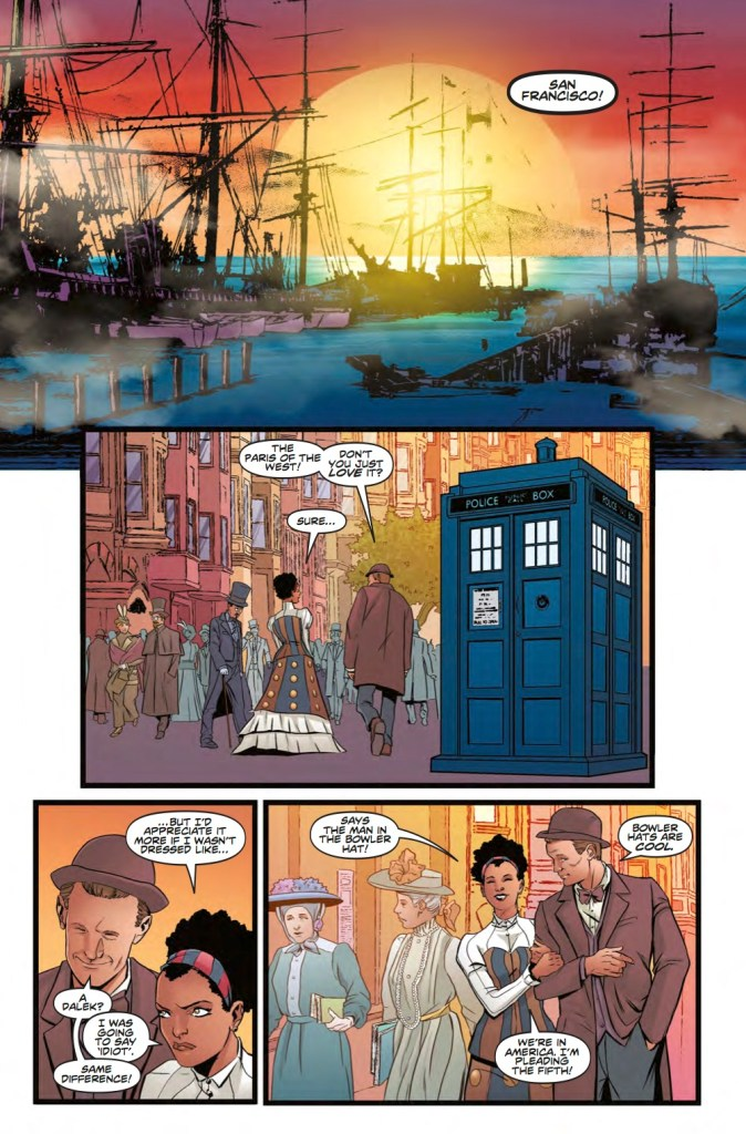 Doctor Who: The Road to the Thirteenth Doctor #2 Page 2 Art by Pasquale Qualano and Dijjo Lima (c) Titan Comics, BBC