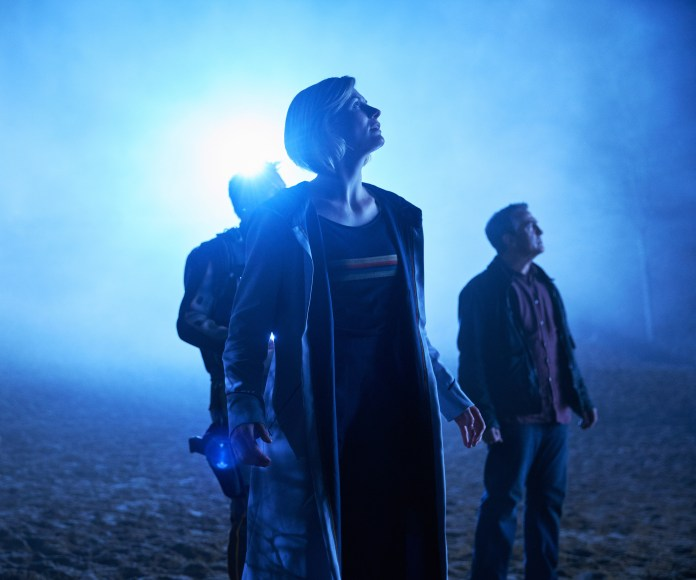 Doctor Who - Series 11 - Episode 2 - Epzo (SHAUN DOOLEY), Graham (BRADLEY WALSH), The Doctor (JODIE WHITTAKER) - (C) BBC / BBC Studios - Photographer: Coco Van Opens