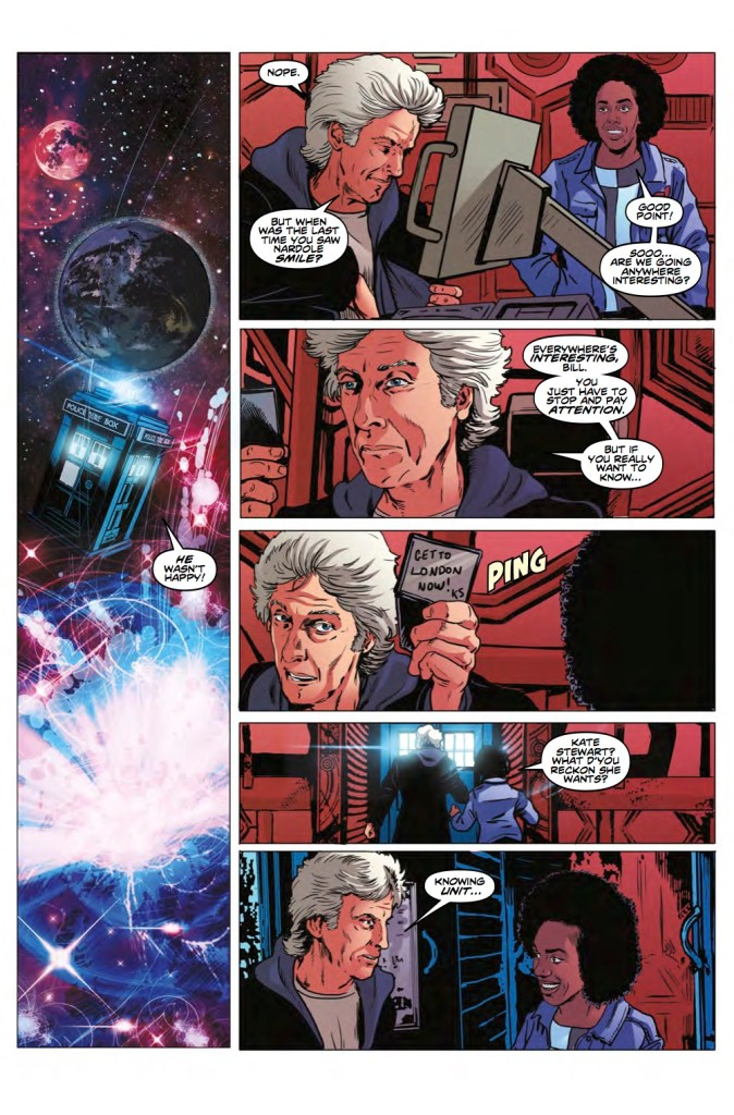 Doctor Who: The Road to the Thirteenth Doctor #3, Pg 3. Art by Brian Williamson.