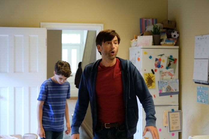 There She Goes - Episode 1 - Ben (EDAN HAYHURST), Simon (DAVID TENNANT) - (C) Merman Productions - Photographer: Kevin Baker