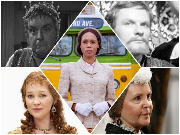 The Emperor Nero (Derek Francis), King Richard I (Julian Glover), Queen Elizabeth I (Joanna Page), Queen Victoria (Pauline Collins) and Mrs. Rosa Parks (Vinette Robinson). Just some of the celebrities the Doctor's met. (c) BBC