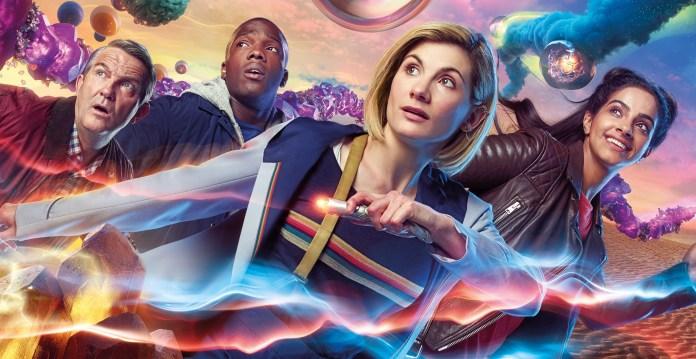 Doctor Who - Series 11 - Graham (BRADLEY WALSH), Ryan (TOSIN COLE), The Doctor (JODIE WHITTAKER), Yaz (MANDIP GILL) - (C) BBC / BBC Studios - Photographer: Henrik Knudsen