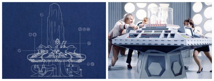 The new 2018 Time Rotor as depicted on the cover of the Type 40 Manual and the traditional model from the 1980s. (c) Penguin Random House/BBC