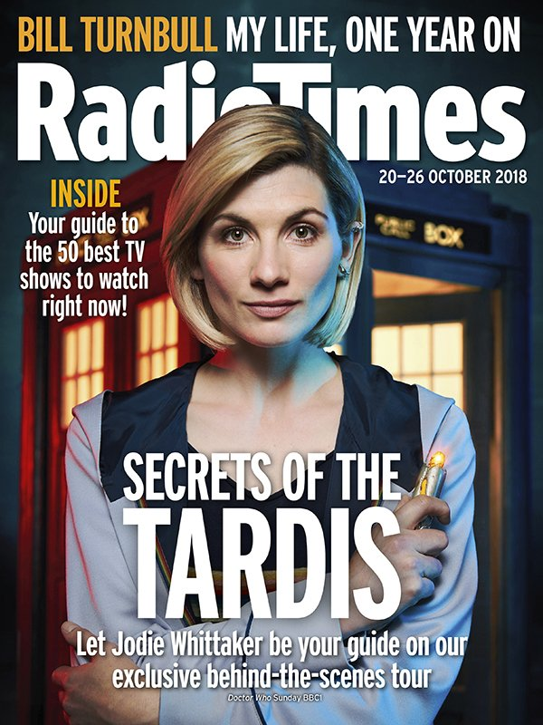 doctor who jodie whittaker on the cover of this week s radio times