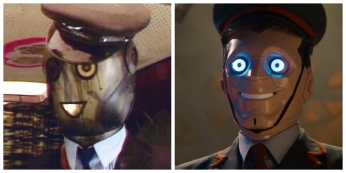 The Conductor from The Greatest Show in the Galaxy and a Kerblam robot from Kerblam!
