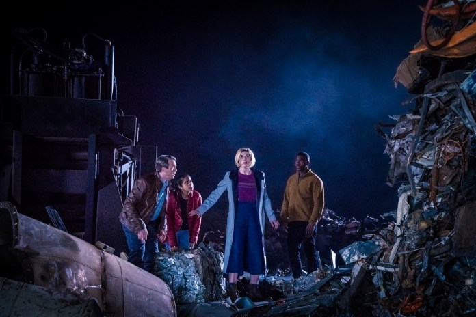 Doctor Who – Series 11 – Ep 5 – The Tsuranga Conundrum - Graham (BRADLEY WALSH), Yaz (MANDIP GILL), The Doctor (JODIE WHITTAKER), Ryan (TOSIN COLE) -(c) BBC Studios